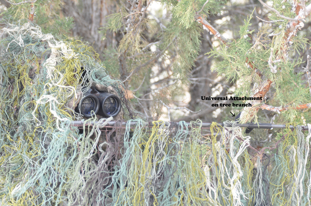 GHILLIE SHOOTING STICKS W/ QUICK BLIND