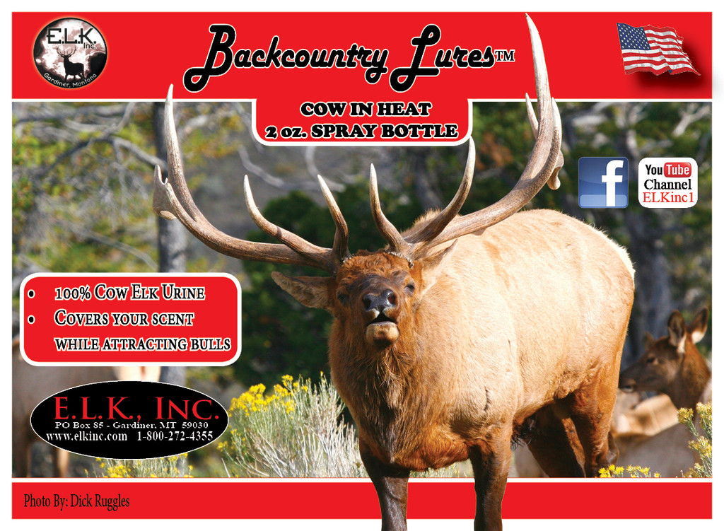 2 oz. ELK SCENT with spray (BACKCOUNTRY LURES)