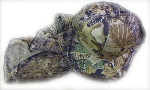 CAMO HAT W/ FACE COVER