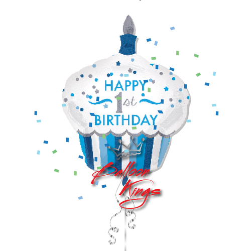 1st Birthday Cupcake Boy