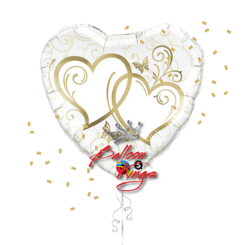 Large Entwined Gold Hearts
