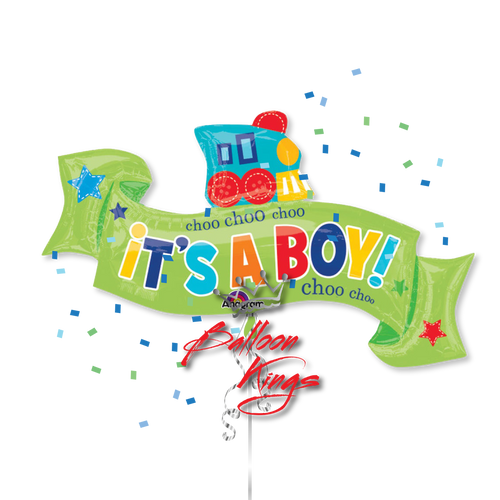 Its A Boy Train Ribbon