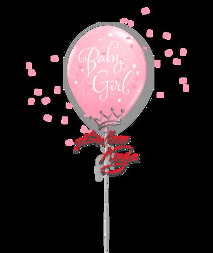 11in Latex Baby Girl Stars - Pink