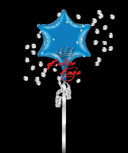 Blue 6 Point Star