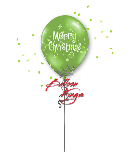 11in Latex Merry Christmas Ornaments - Lime Green