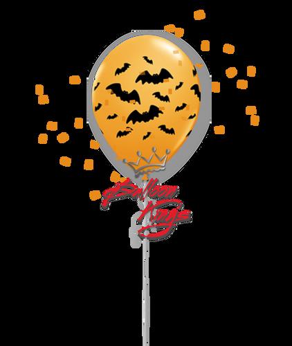 11in Latex Spooky Design - Bat