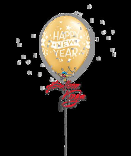 11in Latex New Year Confetti - Gold