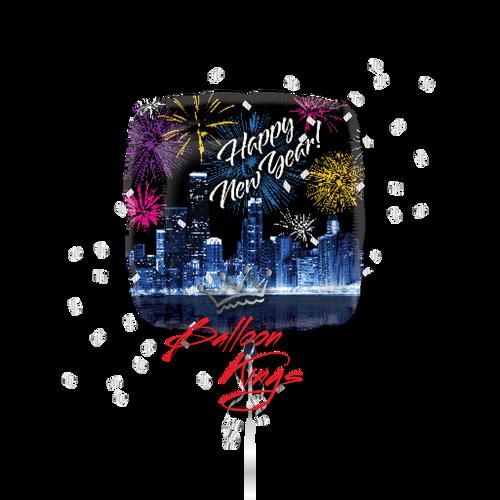 Happy New Year Skyline (D)