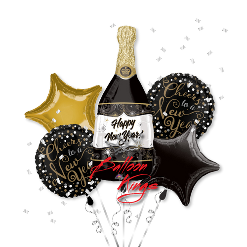 New Year Champagne Bottle Bouquet