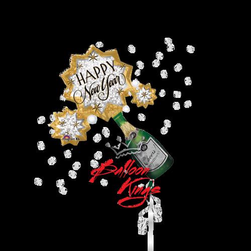 New Year Champagne Burst (D)