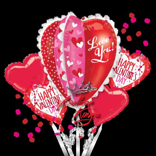 Panel Heart Bouquet
