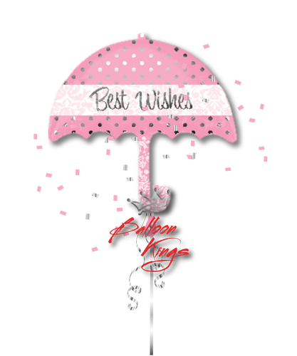 Best Wishes Pink Umbrella (D)