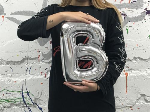 14in Silver Letter B