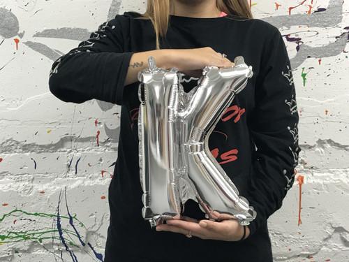 14in Silver Letter K