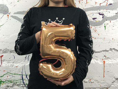 14in Gold Number 5