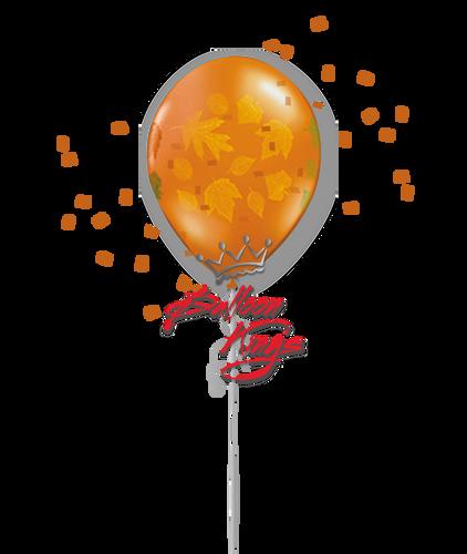 11in Latex Fall Leaves Vine - Orange