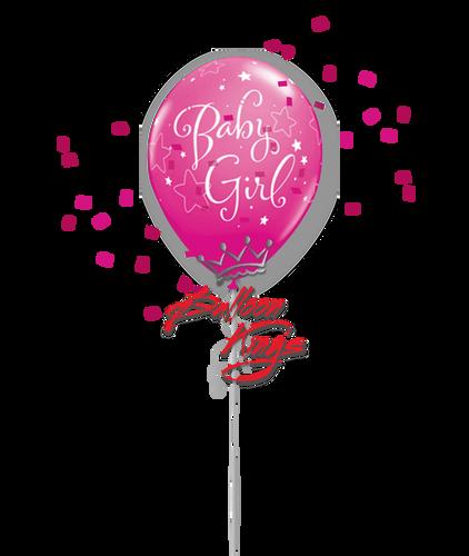 11in Latex Baby Girl Stars - Wild Berry