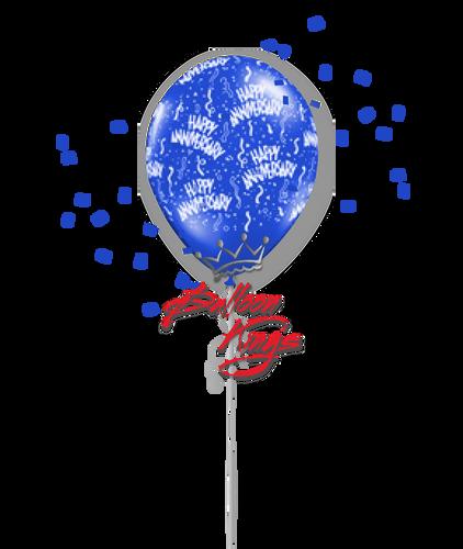11in Latex Happy Birthday - Blue