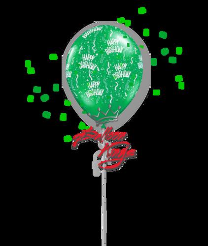 11in Latex Happy Birthday - Green