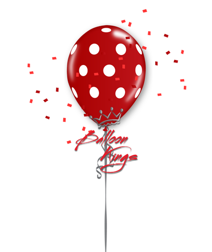 11in Red Polka Dots Balloon Kings