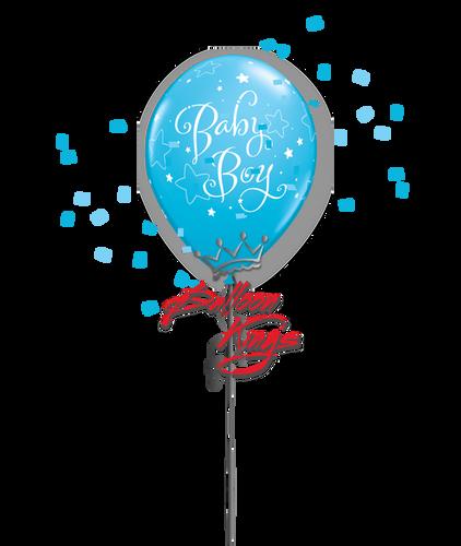 11in Latex Baby Boy Stars - Robin's Egg