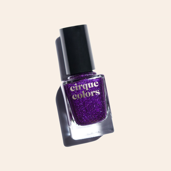 Violet Purple Holographic Nail Polish - Cirque Colors QT Kitty