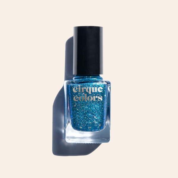 Blue Iridescent Holographic Glitter Nail Polish - Cirque Colors Star Child