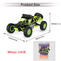 WLtoys 12428 1/12 2.4G 4WD RC Off Road Crawler Buggy 50km/h Speed W/ LED Light
