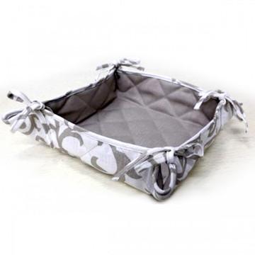 Gray Flax Linen Basket
