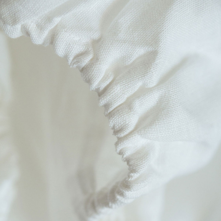 Pure linen fitted bed sheet
