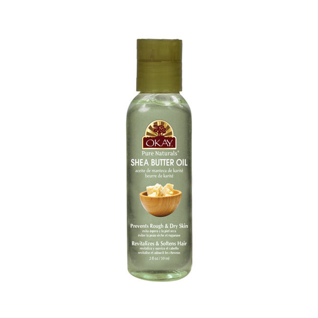 okay pure naturals shea butter oil for hair and skin 2 oz