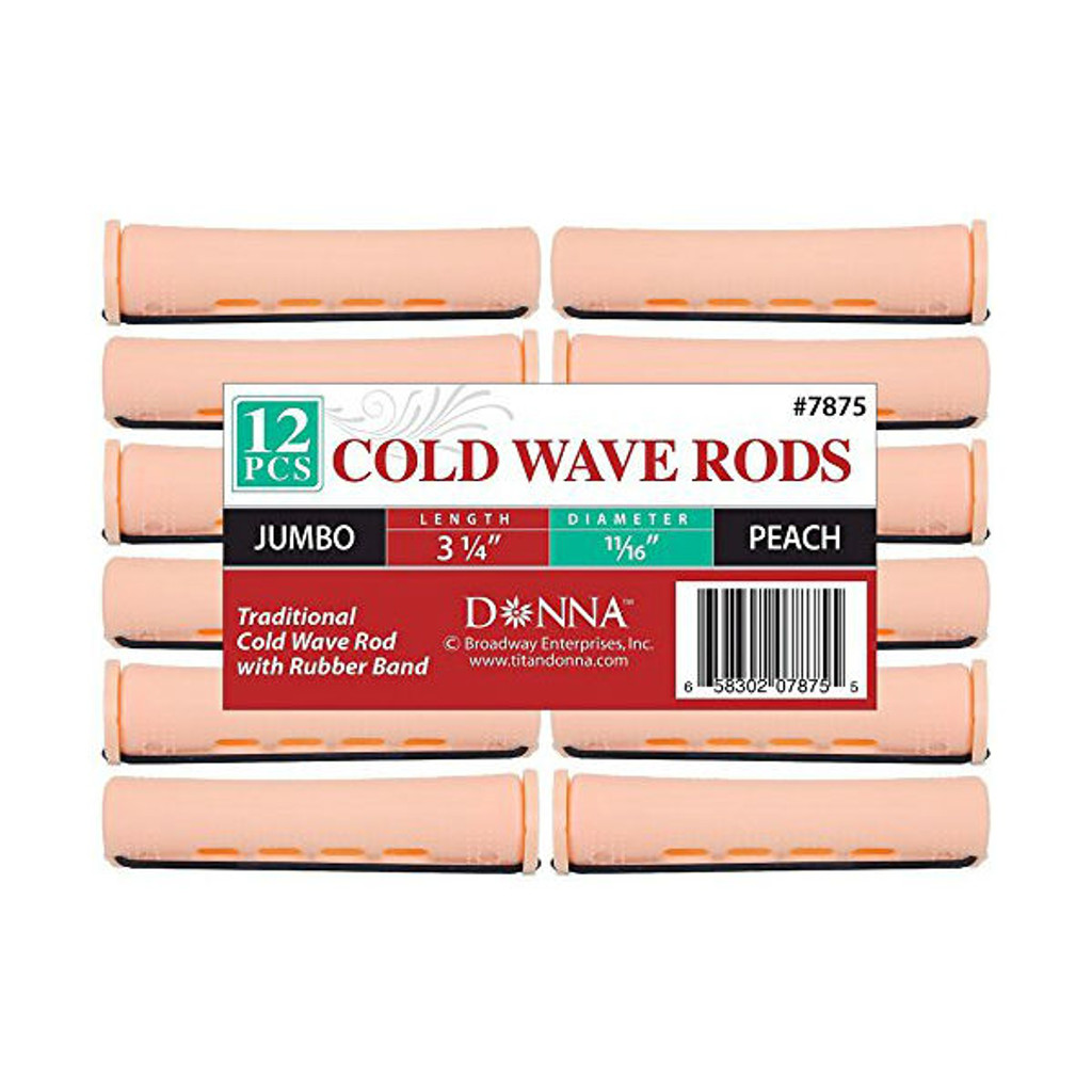 "Donna Cold Wave Jumbo Rods 11/16"" - Peach (12 ct.)"
