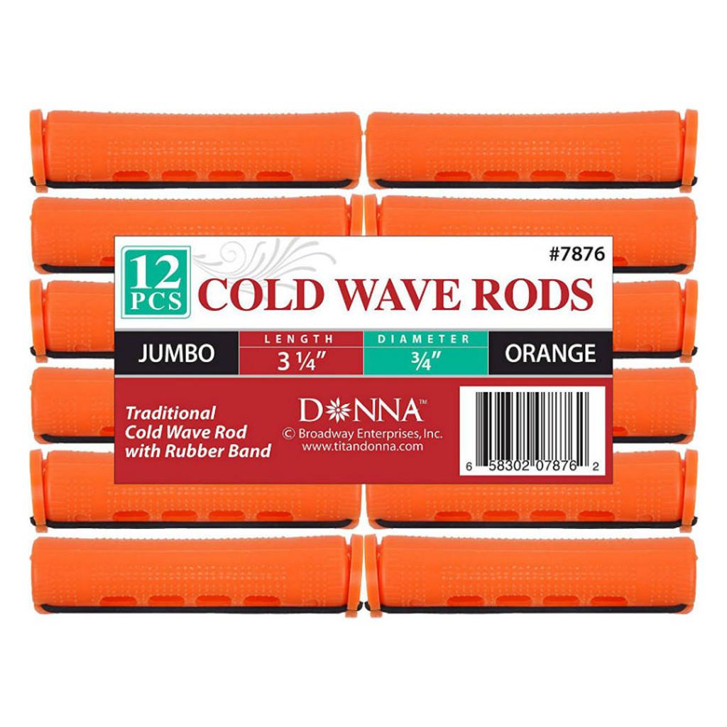 "Donna Cold Wave Jumbo Rods 3/4"" - Orange (12 ct.)"