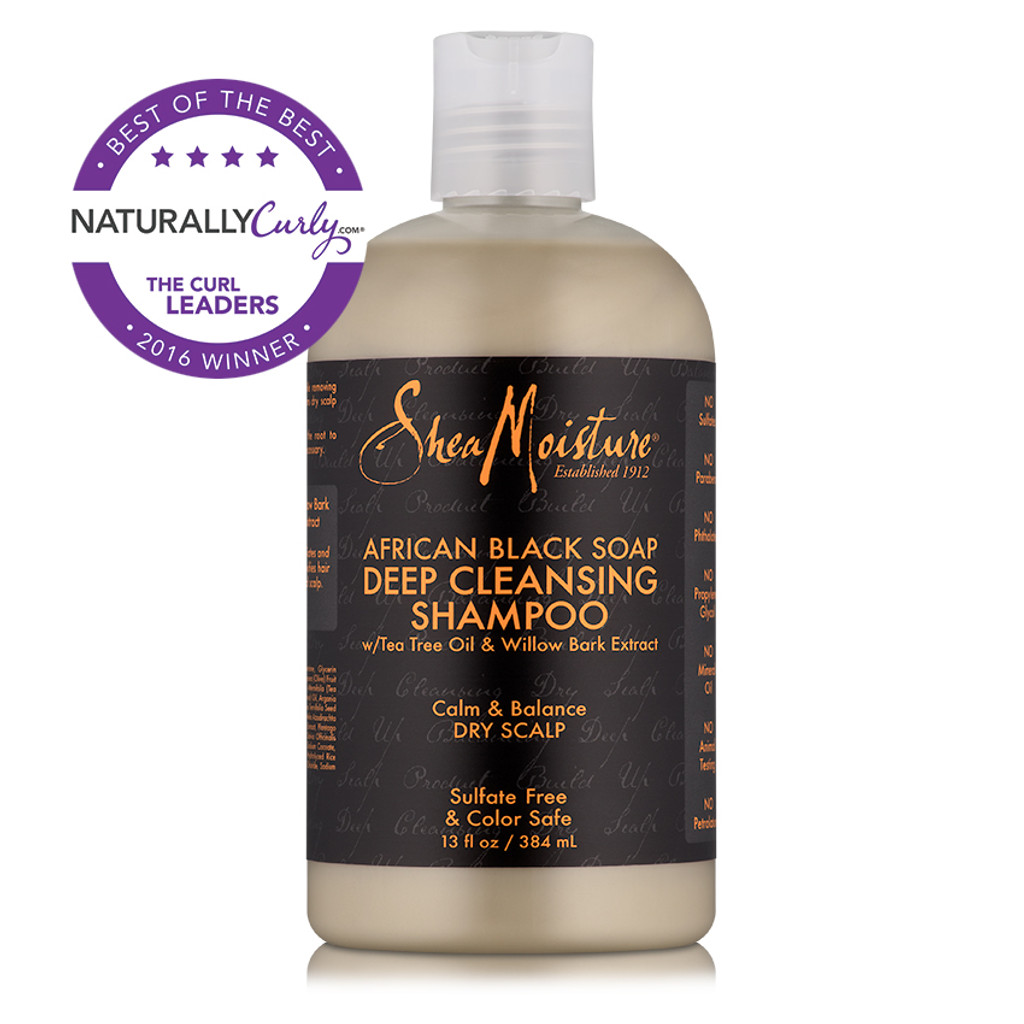 SheaMoisture African Black Soap Deep Cleansing Shampoo (13 oz.)