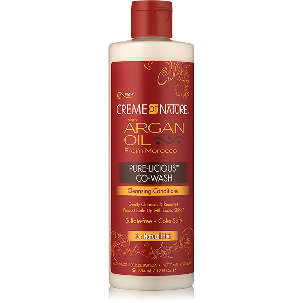 Creme Of Nature Argan Oil Pure Licious Co Wash 12 Oz Naturallycurly