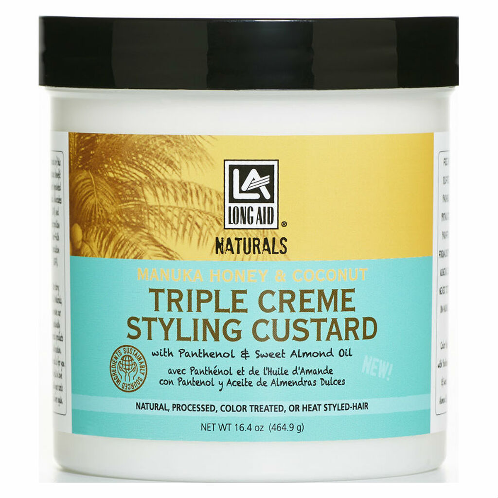 Long Aid Naturals Manuka Honey & Coconut Triple Creme Styling Custard (16.4 oz.)