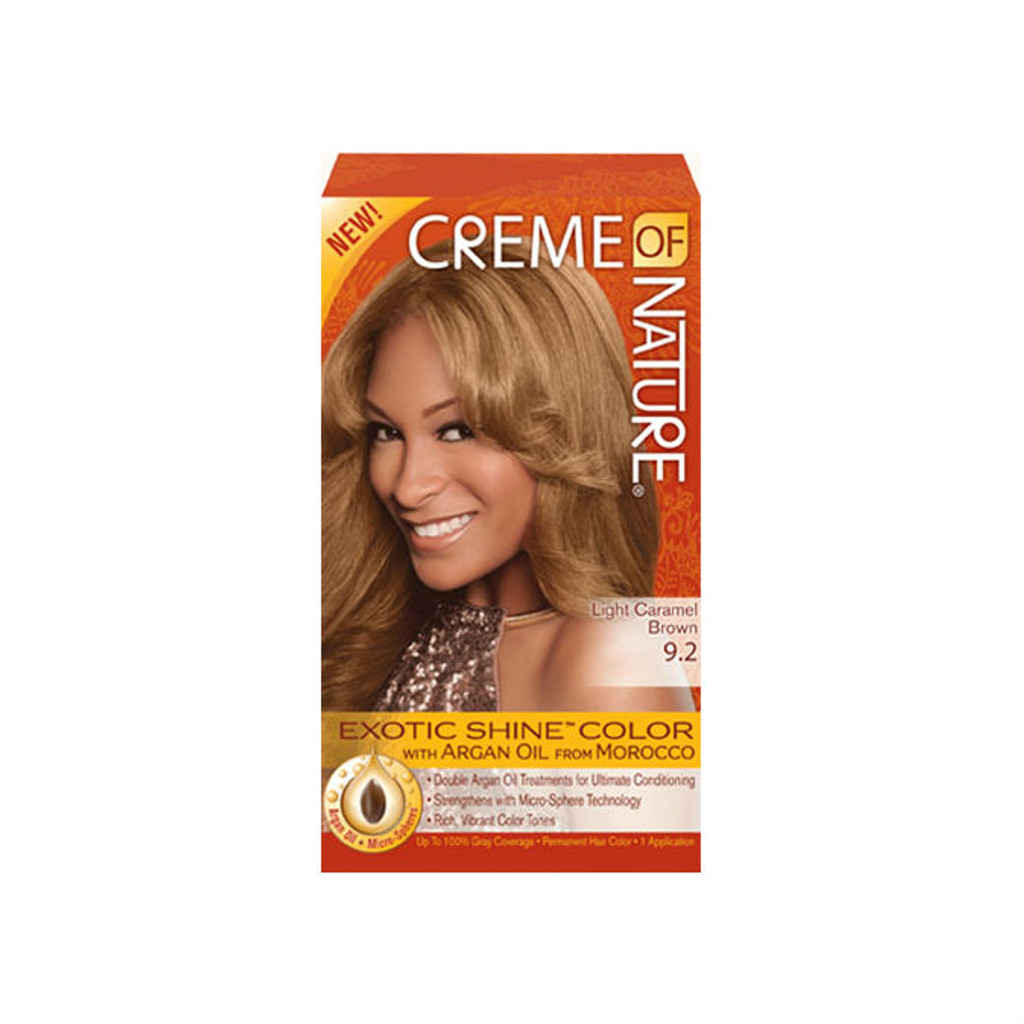 Review Creme Of Nature Exotic Shine Color Light Caramel Brown 9 2
