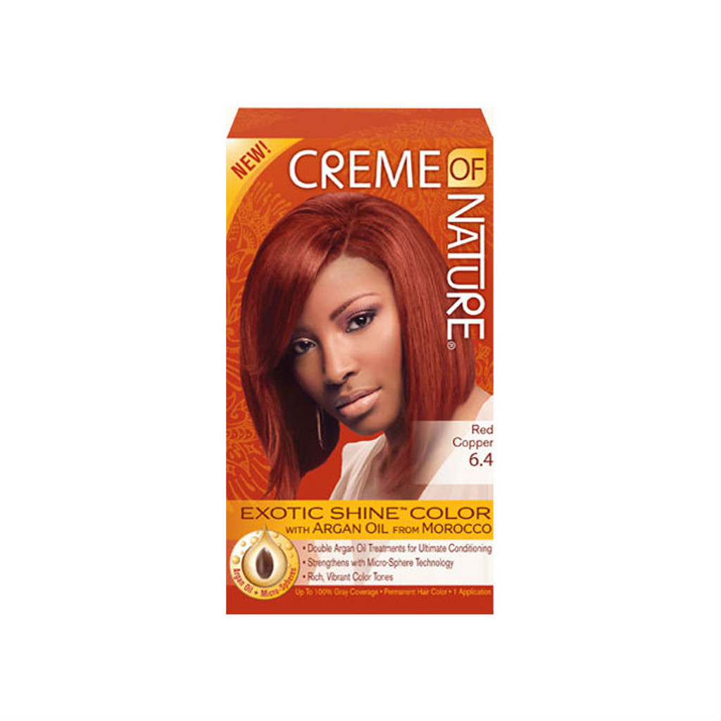 Review Creme Of Nature Exotic Shine Color Red Copper 64