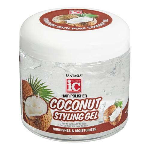 Fantasia IC Hair Polisher: Coconut Styling Gel (16 oz.)