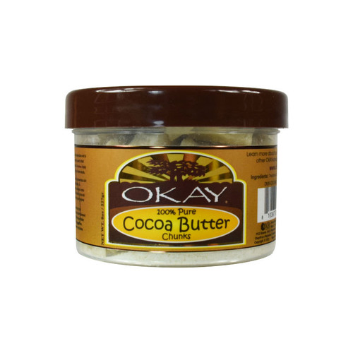 OKAY Pure Naturals Pure Cocoa Butter Chunks for Skin and Hair (8 oz.)