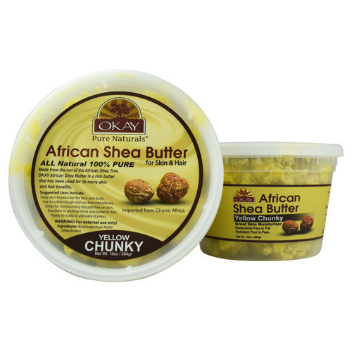 OKAY Pure Naturals Yellow Chunky African Shea Butter (10 oz.)