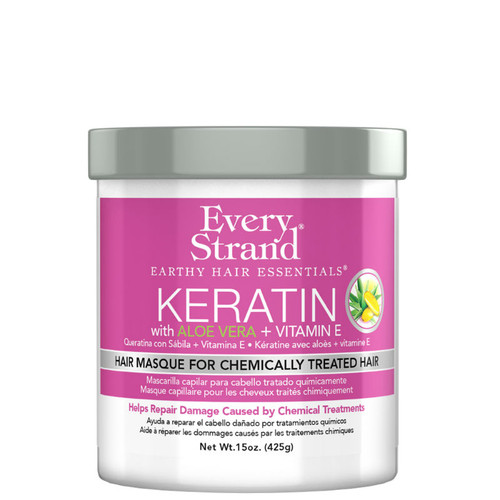Every Strand Keratin with Aloe Vera + Vitamin E Hair Masque for Chemically Treated Hair (15 oz.)