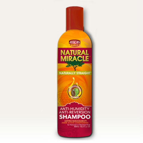 African Pride Natural Miracle Naturally Straight Anti-Humidity Anti-Reversion Shampoo (12 oz.)