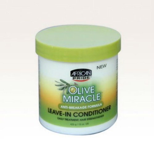 African Pride Olive Miracle Anti-Breakage Leave-In Conditioner Creme (15 oz.)