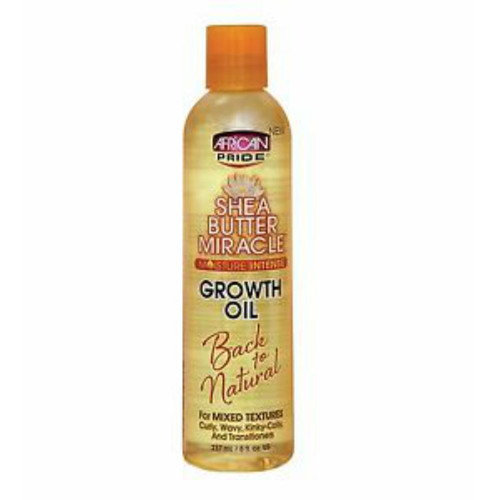 African Pride Shea Butter Miracle Moisture Intense Growth Oil (8 oz.)