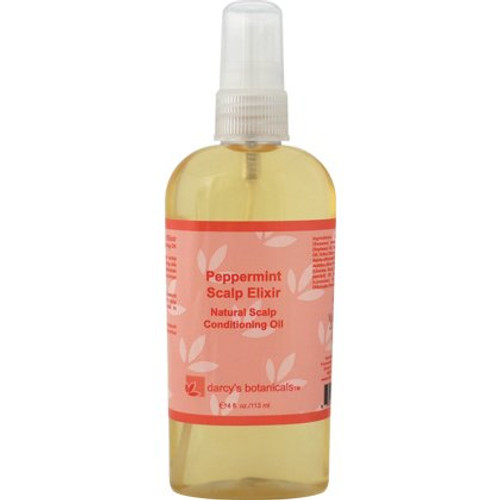 Darcy's Botanicals Peppermint Scalp Elixir Natural Scalp Conditioning Oil (4 oz.)