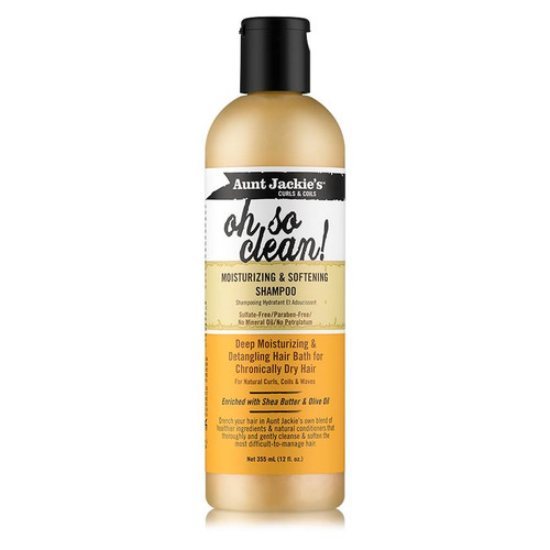Aunt  Jackie's Curls & Coils Oh So Clean! Moisturizing & Softening Shampoo (12 oz.)
