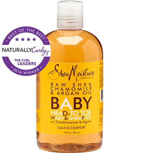 SheaMoisture Raw Shea Chamomile & Argan Oil Baby Head-To-Toe Wash & Shampoo (13 oz.)