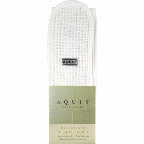 Aquis Essentials White Microfiber Headband