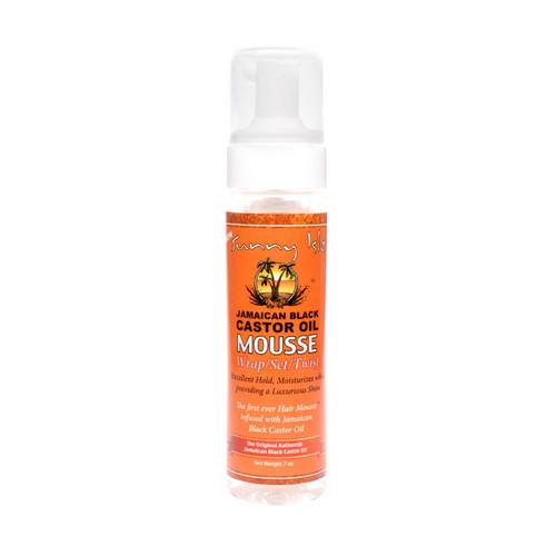 Sunny Isle Jamaican Black Castor Oil Mousse - Wrap/Set/Twist (7 oz.)